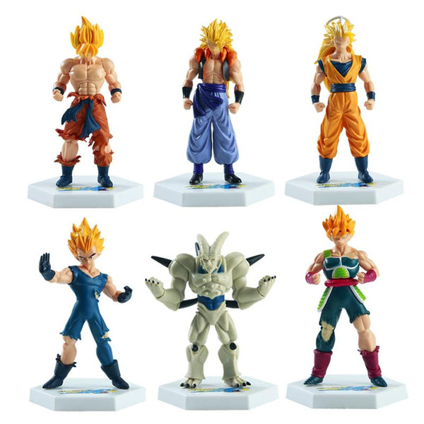 Dragon Ball Z Super Saiyan Action Figure 6 Pcs/Set - AnimePond