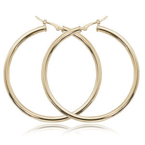 Thin Yellow Gold Hoop Earrings