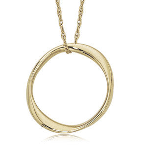 Oval Gold Pendant