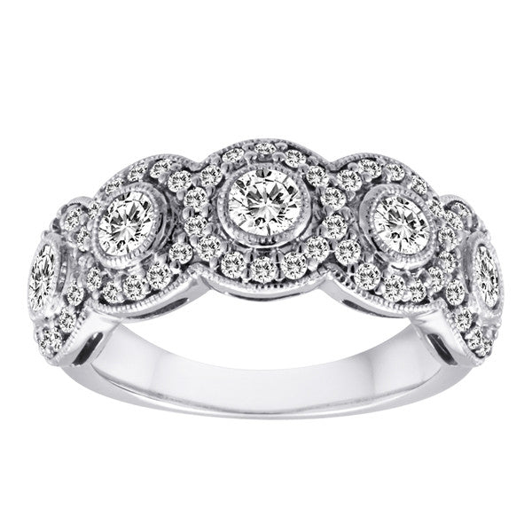 Halo Diamond Band
