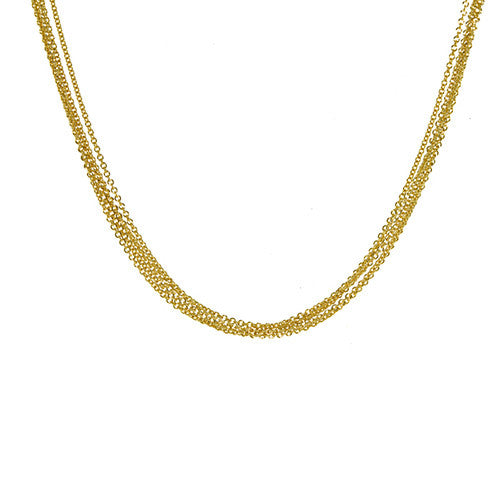 5 Strand Gold Necklace