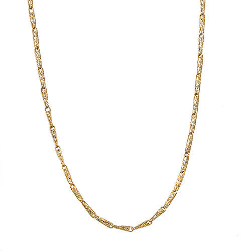 Sparkly Fancy Yellow Gold Laser Cut Necklace