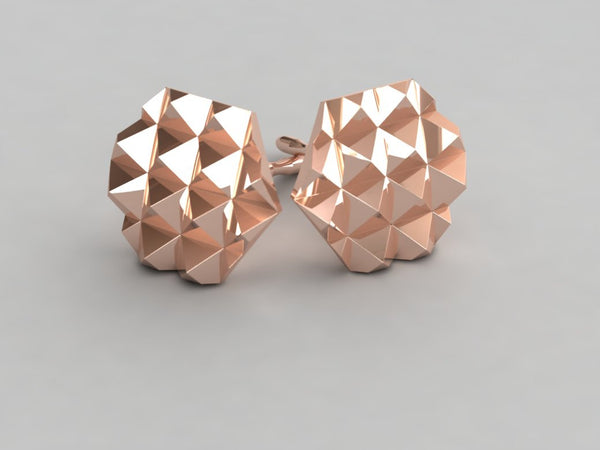 New Roc Gold Stud Earrings