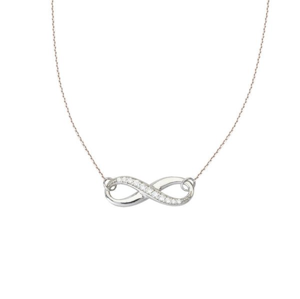 Sterling Silver and CZ Infinite Neckalce