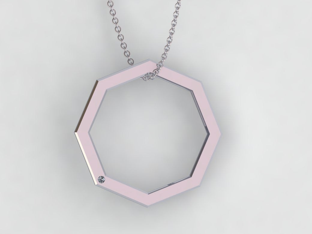 necklaces ct necklace jewellers shopby gold octagon auroral qp pendant in pendants cut ruby white