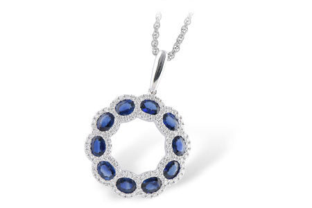 Sapphire & Diamond Wreath Necklace