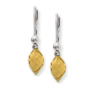 Citrine Briolet Dangle Earring