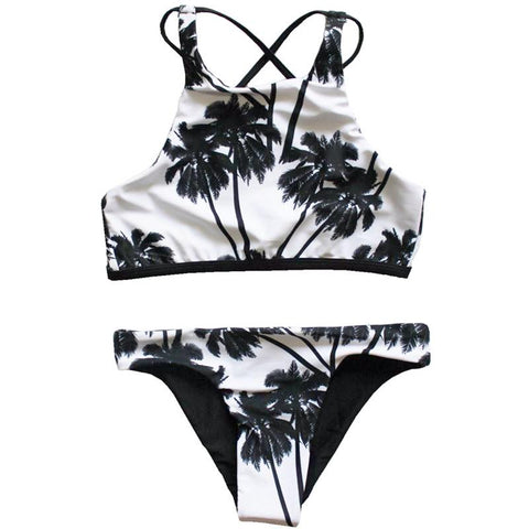Noir Palm Tree Bikini Set - www.hitide808.com