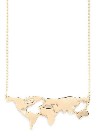 World Map Necklace - www.hitide808.com