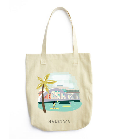 Haleiwa Hawaii Tote Bag - www.hitide808.com