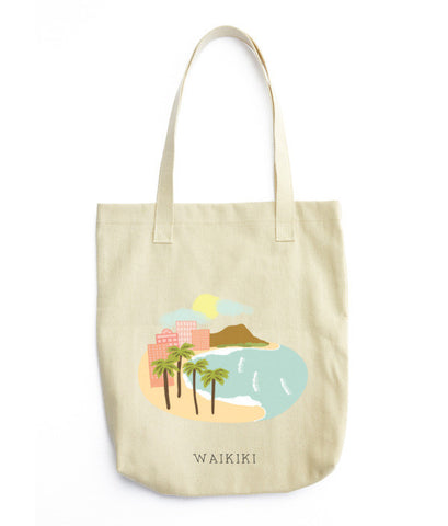 Waikiki, Hawaii Tote Bag - www.hitide808.com