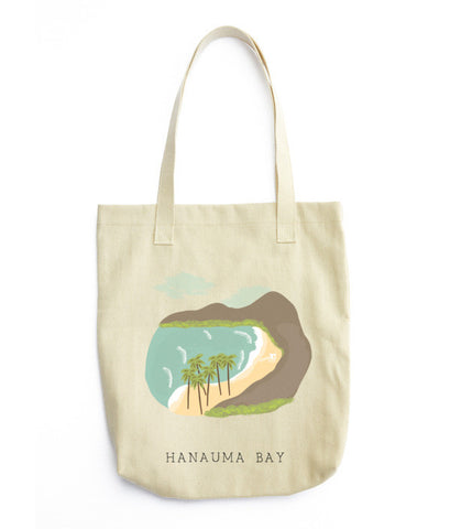 Hanauma Bay, Hawaii Tote Bag - www.hitide808.com