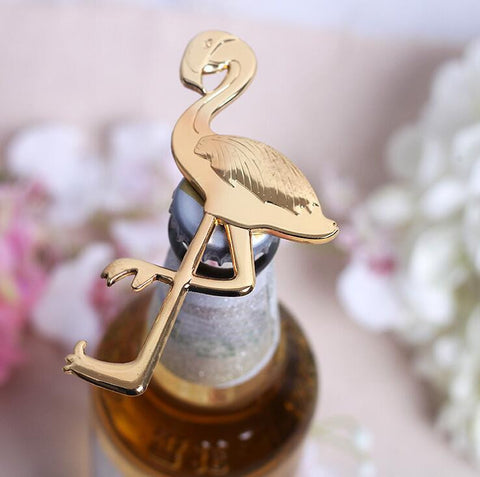 Gold Flamingo Bottle Opener - www.hitide808.com