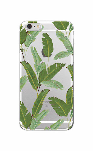 Banana Leaf Transparent Phone Case - www.hitide808.com
