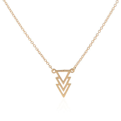 Triple Triangle Necklace - www.hitide808.com