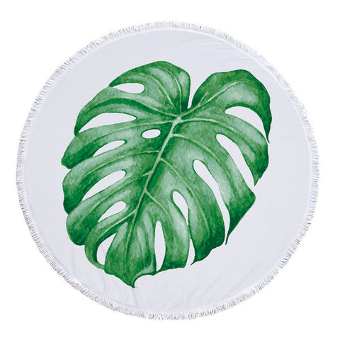 Solo Monstera Round Towel - www.hitide808.com