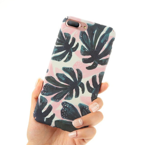 Pink Monstera Phone Case - www.hitide808.com