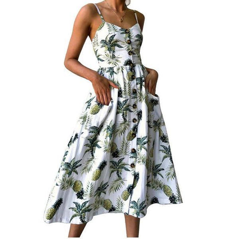 Tropical Pineapples Dress - www.hitide808.com