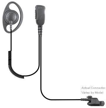 SPM-1233, Defender, Lapel Microphone Fits Motorola - Earphone Guy LLC