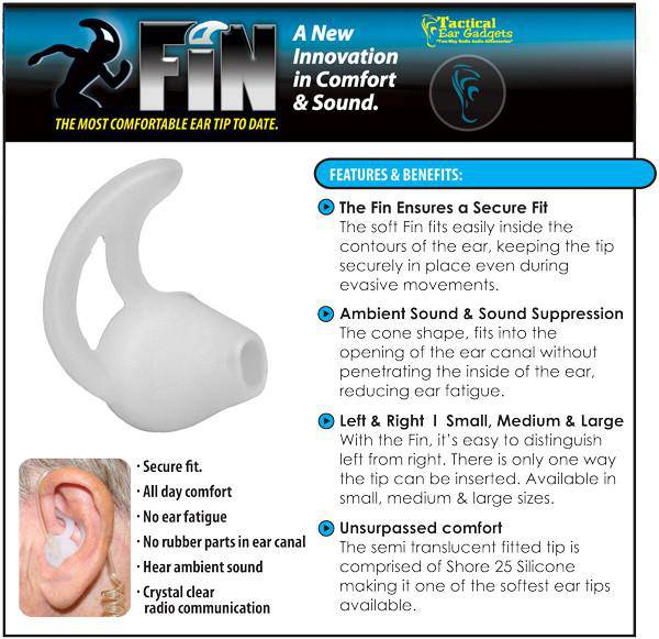The FIN Ear Tip - All Day Comfort - Earphone Guy LLC