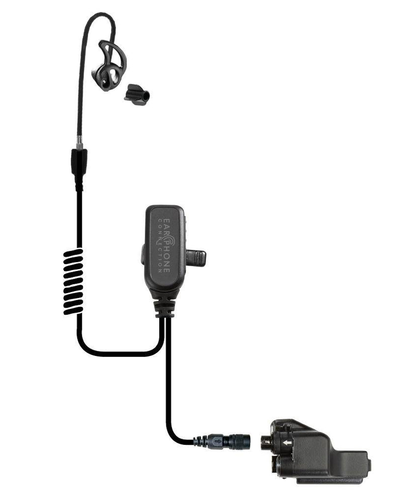 EP1223ECBT Coyote Black Diamond Tactical Short Tube Lapel Microphone w/Easy-Connect fits Motorola XTS/Jedi - The Earphone Guy