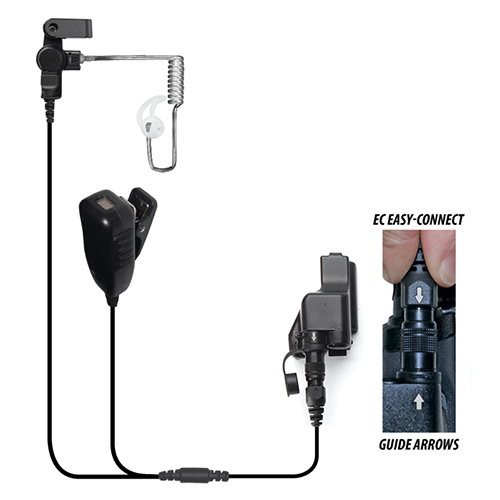 EP4023EC Cougar Professional 2-Wire Kit w/Quick Release fits Motorola XTS / Jedi Series - Earphone Guy LLC