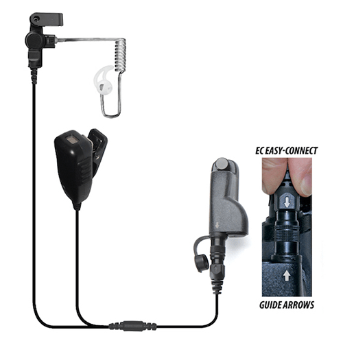 EP4034EC Cougar Professional 2-Wire Kit w/Quick Release fits Motorola APX/TRBO - The Earphone Guy