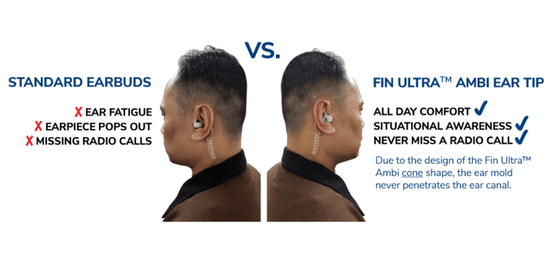 FIN Ultra™ AMBI Ear Tip - Black - for Microsound MS1A - The Earphone Guy