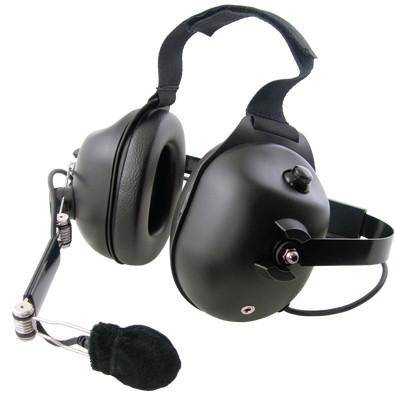 Pryme HDS-EMB Black Dual Earmuff Headset, Fits Motorola - Earphone Guy LLC