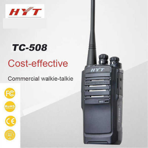 HYT TC-508 Portable Radio VHF 146-174 MHz, 16 Channels HYT-TC-508-V2 - Earphone Guy LLC