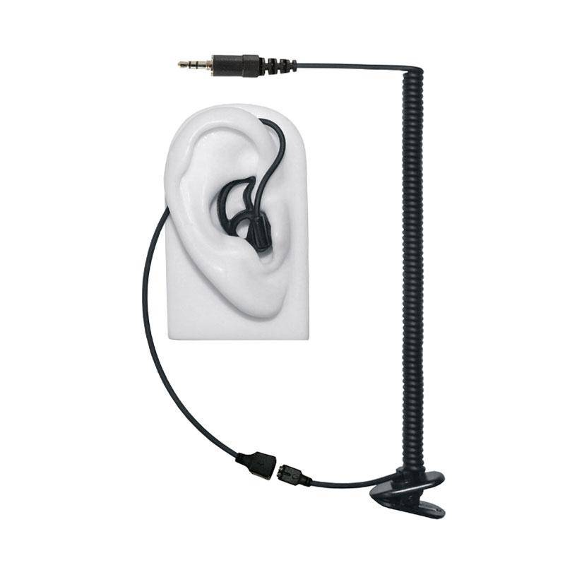 Micro Sound 13A - Tubeless Listen Only Black 3.5mm Threaded Earphone Kit w/No Sound Loss - The Earphone Guy
