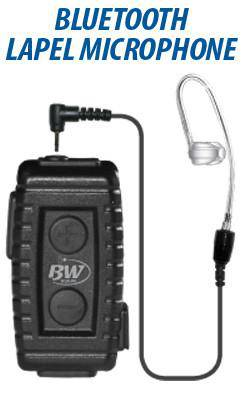 BlueWi BW-NTX5033 Nighthawk Bluetooth Lapel Microphone for Motorola HT - The Earphone Guy