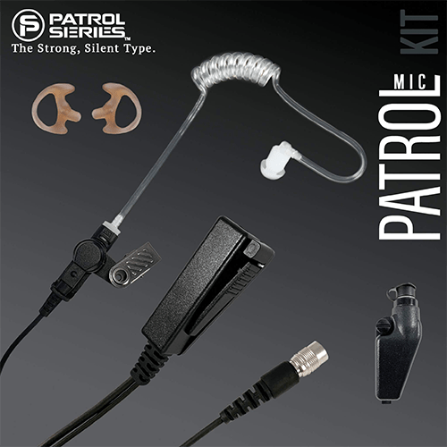 PM11RR Patrol Mic Lapel Microphone Fits Kenwood Multi Pin - The Earphone Guy