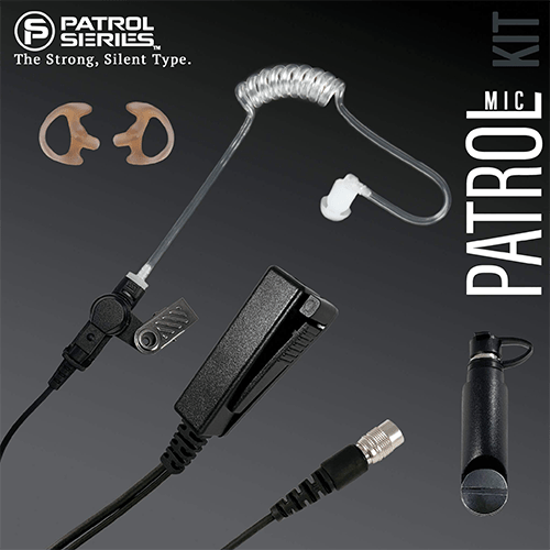 PM29RR Patrol Mic Lapel Microphone fits Harris MA/Com XG/SL - Earphone Guy LLC