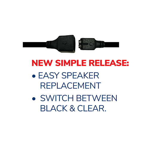 EP1305ECM1 Hawk M1 Tubeless Lapel Microphone - Replacement Kit– Now Available with NAB Option! - Earphone Guy LLC