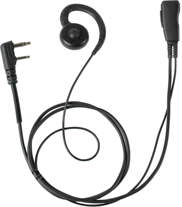 Pryme LMC-1GHX00IL Low Cost G-Hook PTT Adjustable Earset Lapel Mic fits Icom - The Earphone Guy