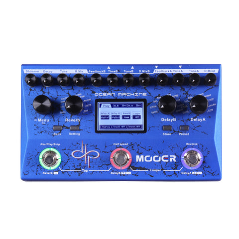 Ocean Machine ( Dual Delay, Reverb y Looper) - Mooer