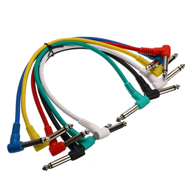 Cables De Patcheo Plastico Colores  30cm (6 pzs)