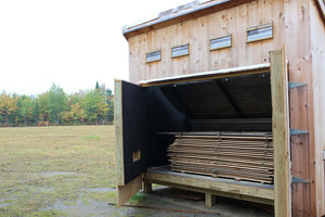 Lumber Dry Kiln for Shaker Oval Boxes and Needlework Boxes.  LeHay's Shaker Boxes.