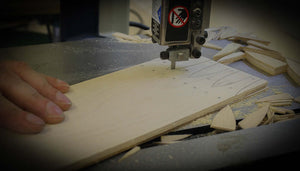 Rough Cutting Swallowtail Joints for Shaker Oval Boxes and Needlework Boxes.  LeHay's Shaker Boxes.