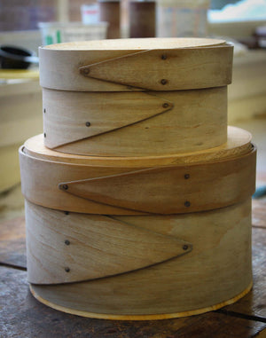 Drying Bent Bands for Shaker Oval Boxes and Needlework Boxes.  LeHay's Shaker Boxes.