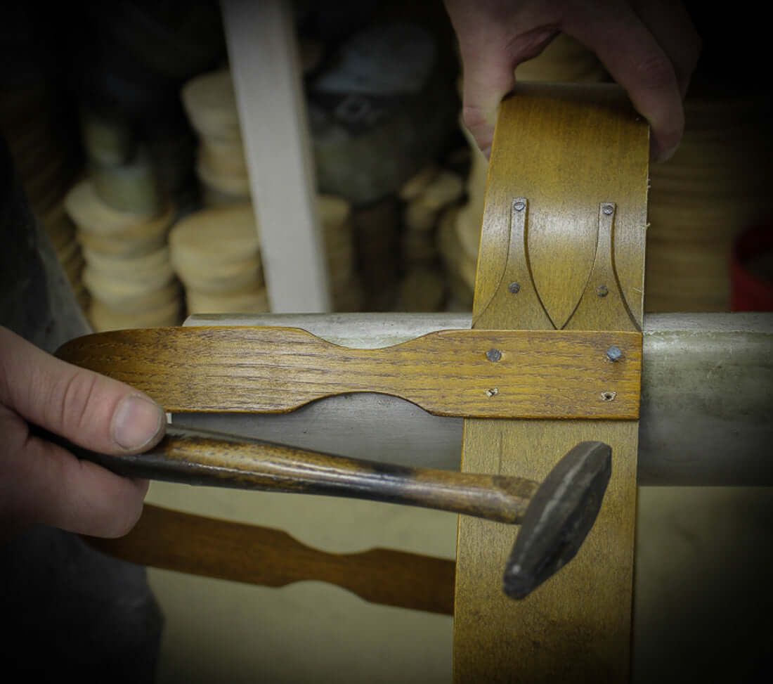 Installing Berry Basket Handles.  LeHay's Shaker Boxes.