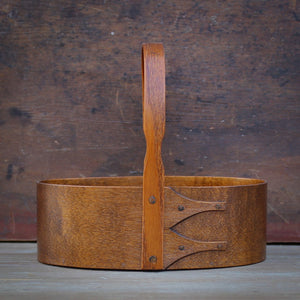 Antiqued Natural Finish.  Shaker Carrier handcrafted in Maine by LeHay's Shaker Boxes.