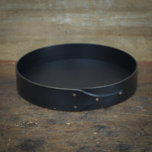 Black Milk Paint Finish.  Shaker Sewing Tray handcrafted in Maine by LeHay's Shaker Boxes.