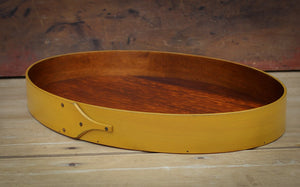 Yellow Milk Paint Finish.  Shaker Serving Tray handcrafted in Maine by LeHay's Shaker Boxes.