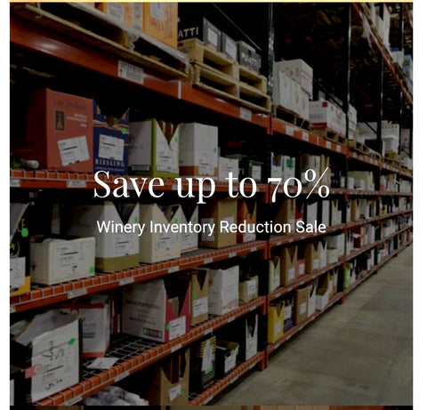 Winery Inventory Reduction Sale Warehouse Wine Bottles