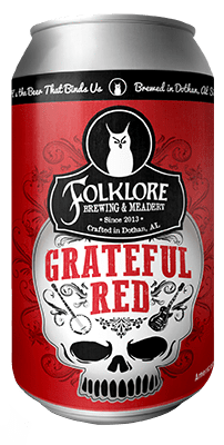 Alabev Craft Beer Folklore Brewing Grateful Red 6pk