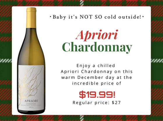 Allocations Chardonnay Day 6! Apriori Chardonnay