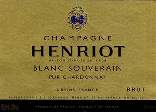 Champagne Henriot Champagne Blanc Champagne Henriot Champagne Blanc Souverain Pur Chardonnay