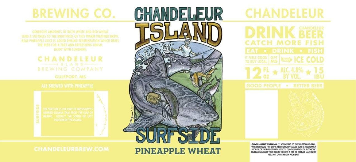 Chandeleur Brewing (Gulfport, Mississippi) Craft Beer Island Surfside Pineapple 6pk